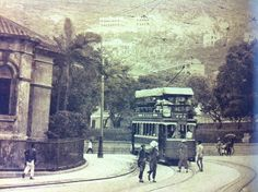 A tram on Admiralty in the 1920s. Photo from Hong Kong Trams by Alan Cheung.