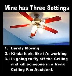 Aint it the truth.  I've always imagined how much damage one would do if the blades blew off on high.