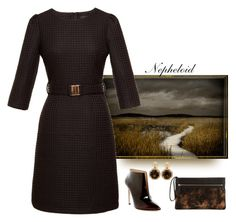 """""""Nepheloid"""" by easy-dressing ❤ liked on Polyvore featuring Pour La Victoire, Vera Bradley, Poiray Paris, brown, WhatToWear, polyvoreeditorial and groupcontest"""