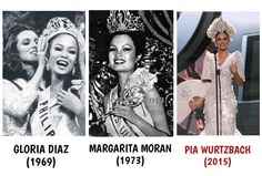 The #Philippines 3rd #MissUniverse crown is worth the wait after 42 years. 1969 Gloria Diaz; 1973 Margie Moran; 2015 Pia Wurtzbach @PiaWurtzbach #MissUniverse2015 ❤️