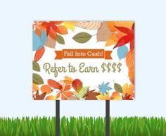 Get your residents to refer friends and family this Fall with these referral bandit signs.   #residentreferrals #referrals #multifamily #fallreferrals #referralideas