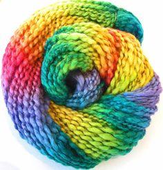 Handspun Bulky Yarn Hand Dyed  BFL Wool Alpaca by FiberFusion