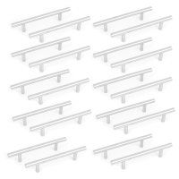 """Unique Bargains 20pcs Stainless Steel Kitchen Cupboard Cabinet Drawer T Bar Pull Handle Knob 6"""""""