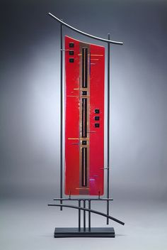 ~~Now and Zen III ~ Fused Glass Tower by Robin Evans~~