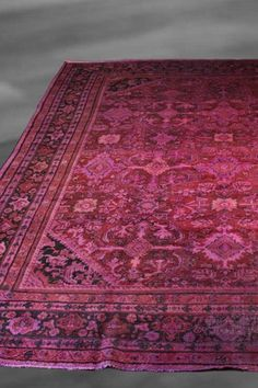 Over-Dyed Persian Mahal Floral Wool Rug - Multi - 10ft. 4in. x 14ft. by Imported Over-Dyed Luxury Rugs on @HauteLook