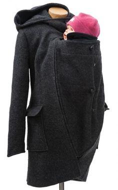 Mamalila Wool Hooded Babywearing Coat