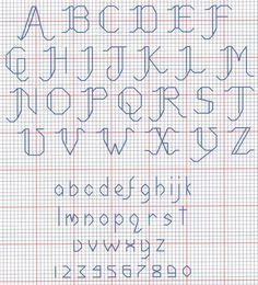 cross stitch alphabet patterns script | Cross Stitch Blog...