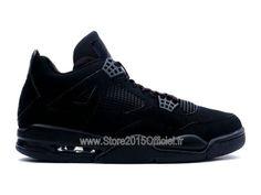 Air Jordan 4/IV Retro 2014 - Baskets Nike Air Jordan Officiel Chaussure Pas Cher Pour Homme Noir 308497-002A