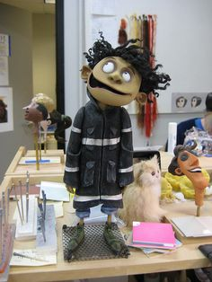 this is a finished clay-mation of one of the characters from the film coraline