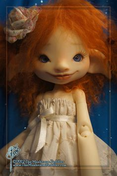 Willow with Face Up  ball jointed doll / BJD by TheMushroomPeddler    I love mushroom peddler dolls. I normally favor more realistic dolls but she is so whimsical I love her :)