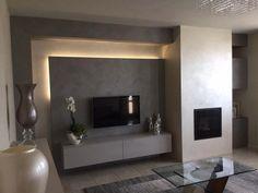 Luminescent volume # Luminescent volume - Warm Home Decor Indian Living Rooms, Living Room Tv, Living Room Interior, Tv Wall Decor, Warm Home Decor, Tv Wall Design, Luxury Sofa, Home Decor Furniture, Living Room Designs