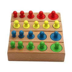Wooden Cylinder Puzzle Set