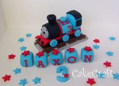 Thomas the tank engine, train Handmade edible birthday cake decorations topper