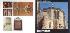 Folleto turístico de Belmonte, Cuenca, Arte, gastronomía, artesanía, fiestas... y plano de situación de los principales monumentos. Infotur Castilla-La Mancha, 1997. #Cuenca #Belmonte #Turismo