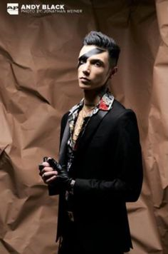 Andy Black for Alternative Press photographed by Jonathan Weiner Andy Biersack, Bvb Fan, Black Veil Brides Andy, Andy Black, Actors & Actresses, American, Average Joe, Magazine Covers, Hot Men