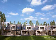 LK&1187 projekt domów w zabudowie szeregowej.