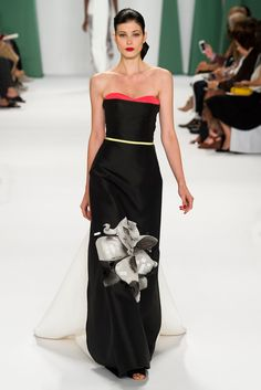 Carolina Herrera Spring 2015 Ready-to-Wear - Collection - Gallery - Style.com | Create as contrasting layers that can be folded down