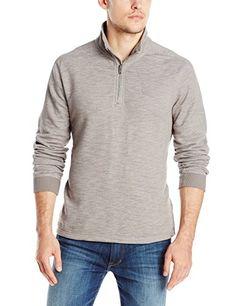Calvin Klein Men's French Terry Half-Zip Sweater...