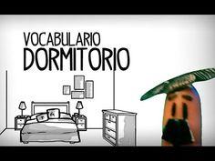 Vocabulario dormitorio en español, las partes de la casa - YouTube