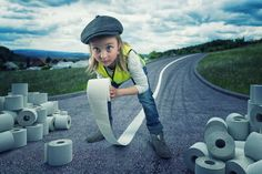 John Wilhelm Makes Cinematic and Humorous Photo Illustrations With His Three Daughters #inspiration #photography