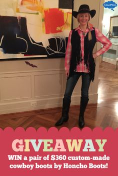 WIN a pair of $360 custom-made cowboy boots by Honcho Boots! Click through to enter!