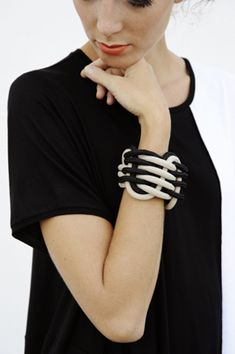 alienina climbing cuff from SS2013 collection | hand made cuff realized with sailing rope