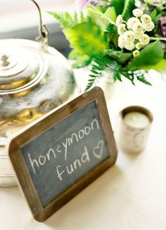 Honeymoon Fund- too bad this is super cheesy and rude because we need it.