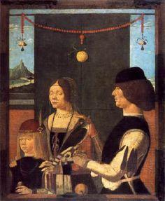 Family of Uberto de' Sacrati  1480s Tempera on canvas, 112,3 x 90,8 cm Alte Pinakothek, Munich