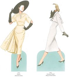 Welcome to Dover Publications Great Fashion Designs of the Fifties Paper Dolls: 30 Haute Couture Costumes by Dior