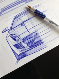 F-Type Front View Sketch