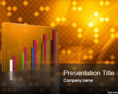 Free Gold PowerPoint template is a free gold template slide design with nice retro image with circles and 3D chart with gold style