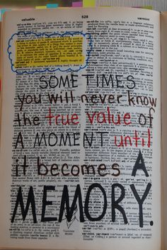 Dictionary I added quotes to for my daughter as a wedding gift. Also added pictures...she loved it! :-)