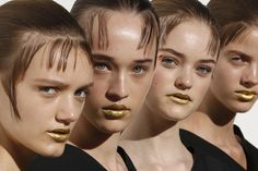 Prada's Major Metal Mouths! Introducing the Gold Statement Lip That Nearly Stole the Show