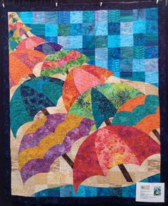 """Happy Hawaii"" by Beth Hawkins, quilted by Lauri Drean (from Quiltmaker Blog)"
