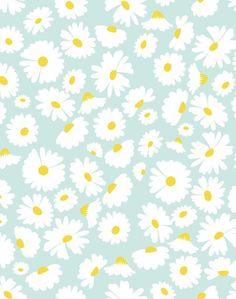 'Pop Daisy' Wallpaper by Wallshoppe - Seafoam - Removable Panel - Sample