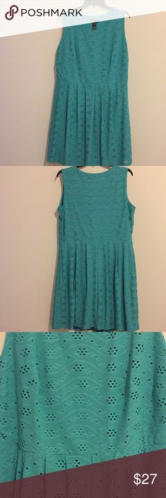 Enfocus Women Eyelet Dress Enfocus women eyelet dress, size 16W. Teal/turquoise color. Enfocus Dresses