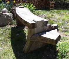 Make an Outdoor Slab Bench - Fine Woodworking Easy Woodworking Projects, Woodworking Furniture, Fine Woodworking, Outdoor Projects, Wood Projects, Outdoor Decor, Log Furniture, Outdoor Furniture, Cheap Furniture