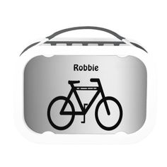 Silver Metallic Bicycle Lunch Box