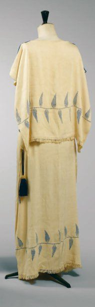 Paul Poiret, circa 1920 SUMMER DRESS, wish I could see the front.