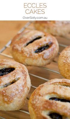 Eccles Cakes – buttery pastries filled with spicy currants. This recipe hasn't changed much since their birth in Lancashire, England in Welsh Cakes Recipe, Welsh Recipes, Scottish Recipes, British Recipes, Tea Cakes, Food Cakes, Bakery Recipes, Cookie Recipes, Currant Cake Recipe