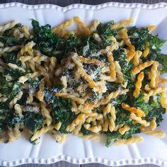 Crispy Brown Butter Gemelli with Shredded Kale