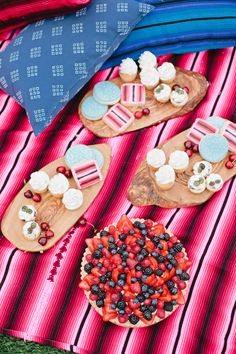 The perfect Fourth of July picnic using our wooden serving pieces.