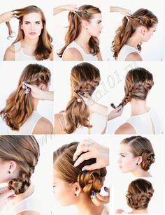 How to herringbone plait for the oktoberfest tutorial. In September, the most popular festival in th Popular Hairstyles, Girl Hairstyles, Braided Hairstyles, 3a Hair, Salon Lighting, Beauty Makeup, Hair Beauty, Hair Creations, Plait