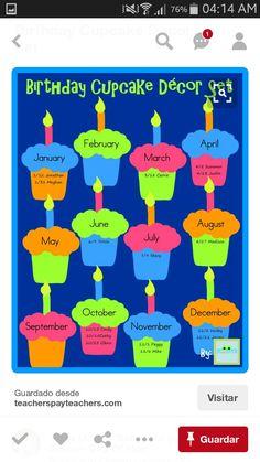 Birthday Chart Classroom Bulletin Boards Charts Board Preschool