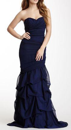 Dalia MacPhee Long Petal Skirt Dress