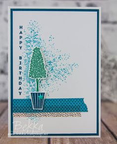 Birthday Card featuring the Beautiful Vertical Greetings Stamp Set from Stampin'…