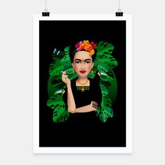Frida Kahlo – Poster at Live Heroes by Pia Kolle