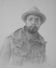"Self-Portrait by Mario Robinson Pencil ~ 12"" x 9"""
