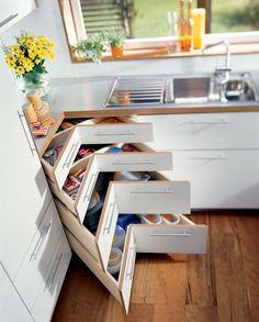 Silencieux ces tiroirs d'angle