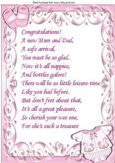 congratulations on expecting a girl quotes quotesgram babies